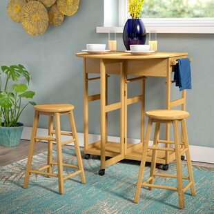 Wynyard 3 Piece Pub Table Set by Beachcrest Home