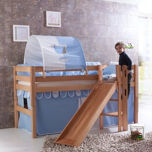 Raphael European Single High Sleeper Bed With Slide By Harriet Bee