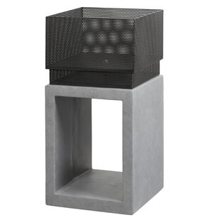 Clay Cast Iron Wood Burning Outdoor Fireplace Image