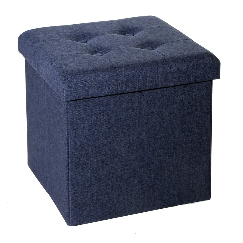 Beautiful Zosia Tufted Foldable Storage Cube Ottoman