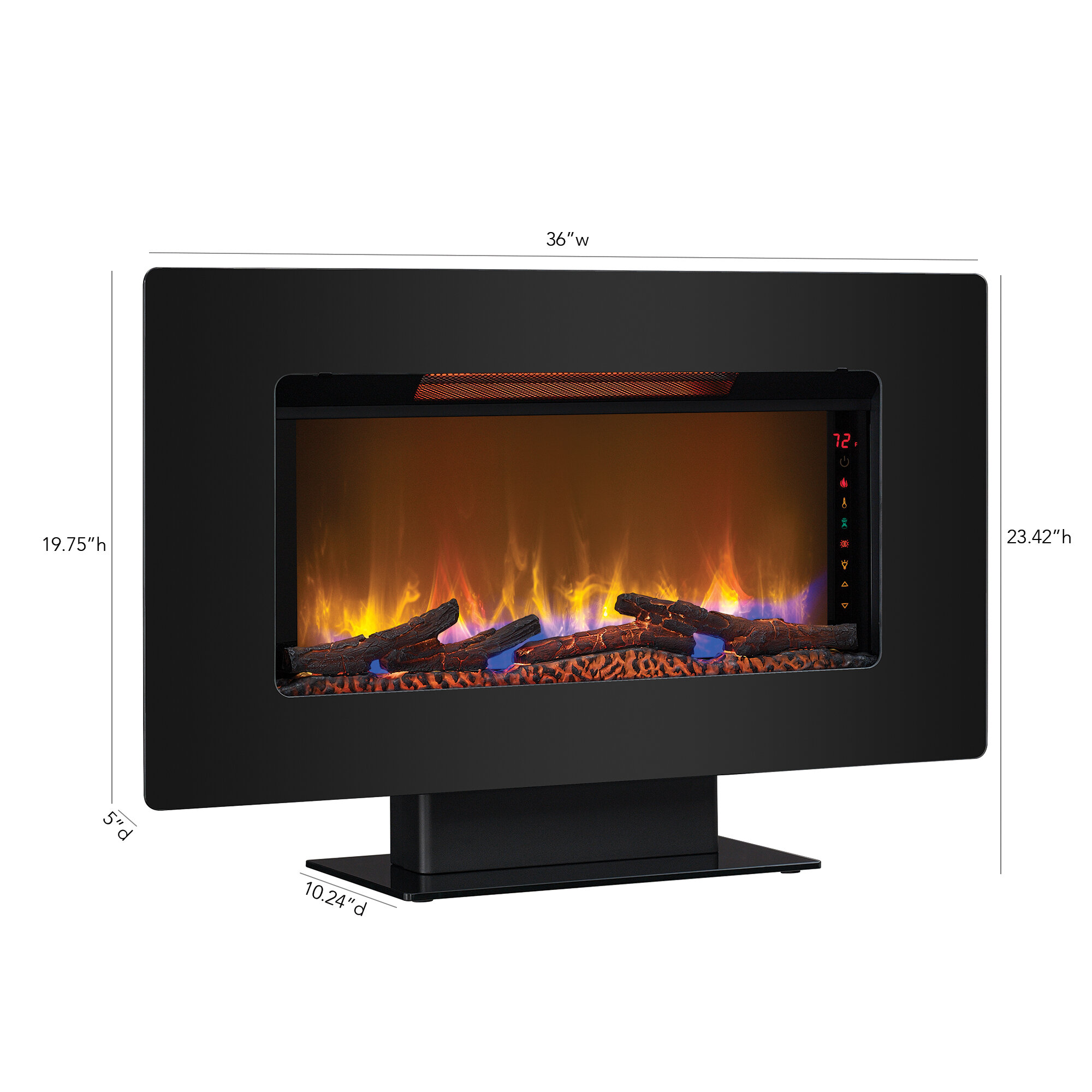 2af7a0f94e0012 Latitude Run Troxell Wall Mounted Electric Fireplace   Reviews