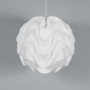 Clarinda Wave 1-Light Pendant by Wade Logan