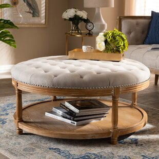 Ansel French Upholstered Tufted Cocktail Ottoman by One Allium Way