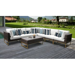 Barcelona Outdoor 8 Piece Sectional Seating Group With Cushions by TK Classics Find