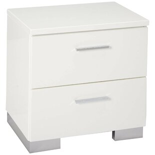 Trader Wooden 2 Drawer Nightstand