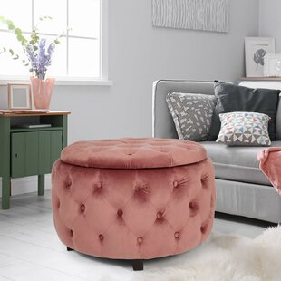 Sylvester Round Tufted Storage Ottoman by Mercer41