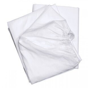 T-180 Elite White Blended Full Fitted Sheet by Rifz No Copoun