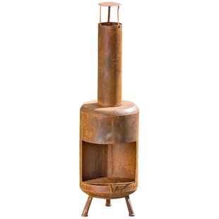 Garden Iron Wood Burning Chiminea By Whole House Worlds