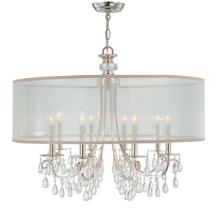 Compare prices Aayush 8-Light Chandelier ByWilla Arlo Interiors