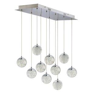 Sensabaugh 10-Light LED Cluster Pendant by Orren Ellis