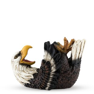 Polyresin Elated Eagle Tabletop Wine Bott..