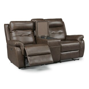 Sasheer Leather Reclining Loveseat by Latitude Run