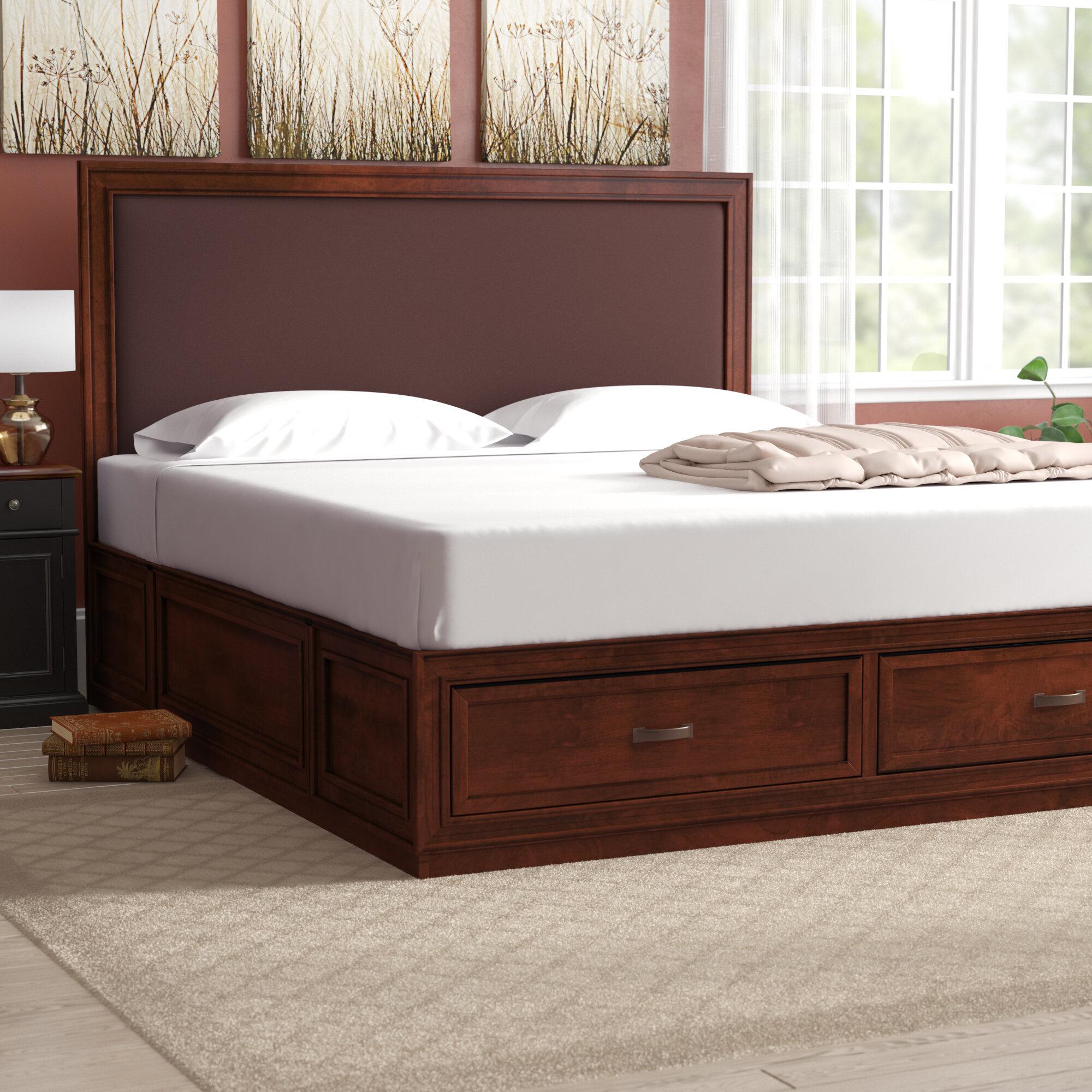 king platform bed with storage