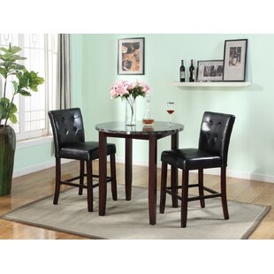 Janmarie 3 Piece Counter Height Dining Set