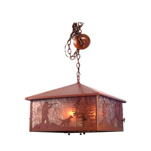 Meyda Tiffany Quail Hunter with Dog 3-Light Pool Table Light