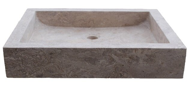 Tashmart Angled Flow Stone Rectangular Vessel Bathroom Sink Wayfair
