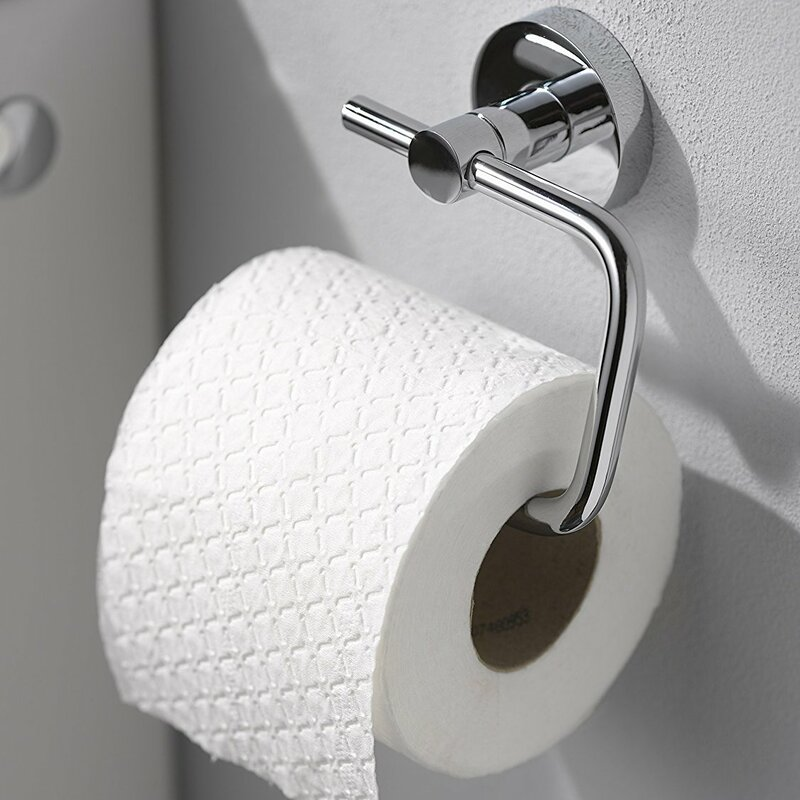 kosmos wall mounted toilet roll holder in chrome