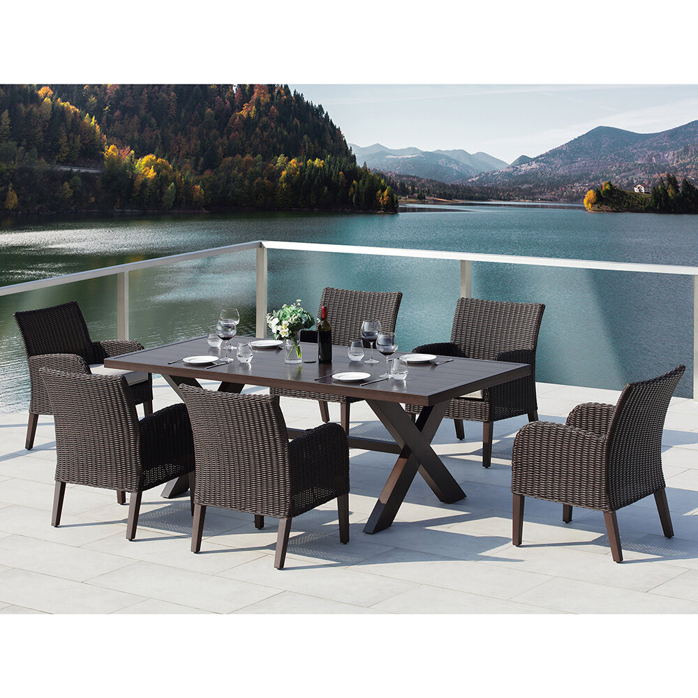 Iii 7 With Cushions Majorca Piece Dining Set j354RLAq