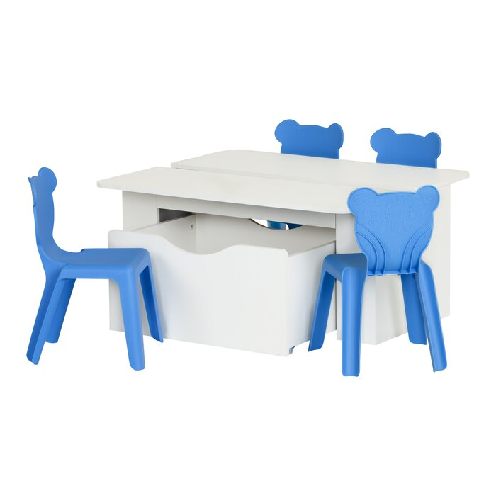 Cool Crea Kids 4 Piece Activity Table And Chair Set Machost Co Dining Chair Design Ideas Machostcouk