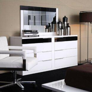 Wade Logan Sabra 8 Drawer Wood Double Dresser