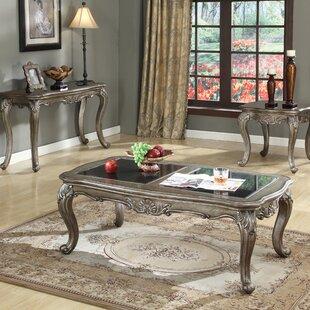 Astoria Grand Wensley 3 Piece Coffee Table Set