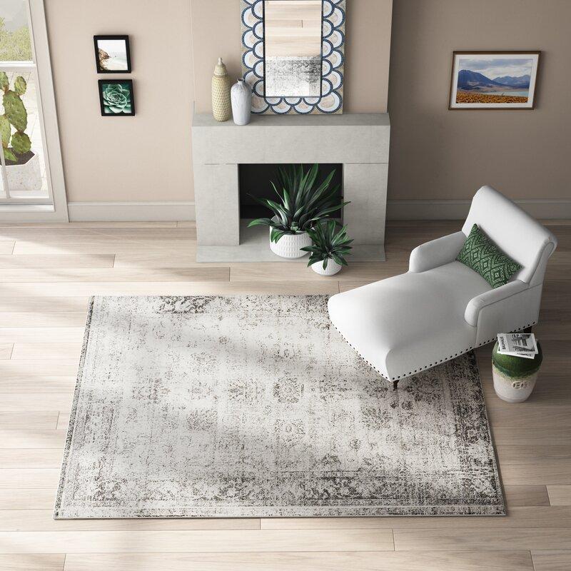 Mistana Brandt Floral Gray Area Rug