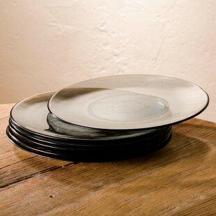 13\  Cast Recycled Glass Dinner Plate (Set of 6) & Cast Iron Dinner Plate | Wayfair