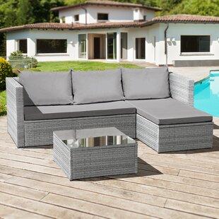 Deatrich 3 Seater Rattan Corner Sofa Set Image