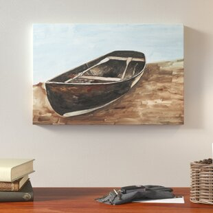 Canoe Painting Lake House Acrylic Print On Canvas