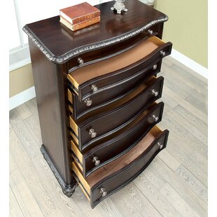 Look for Gall Transitional Wood 5 Drawer Chest by Astoria Grand