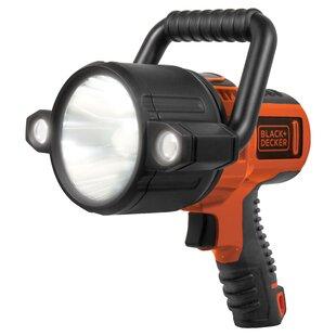 Black & Decker Flashlight Led Rechargeable 10 Watt 750 Lumen Black/Orange By Freeport Park
