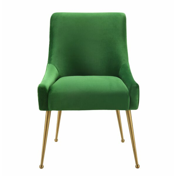 Green Dusek Upholstered Dining Chair by Allmodern