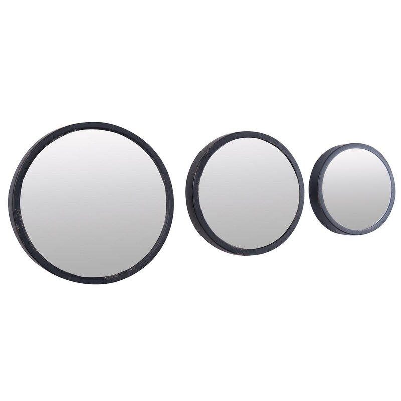 3 Piece Round Mirror Set