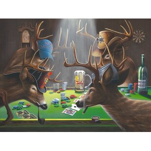 'Playing For Doe' by Geno Peoples Painting Print on Wrapped Canvas ByHadley House Co
