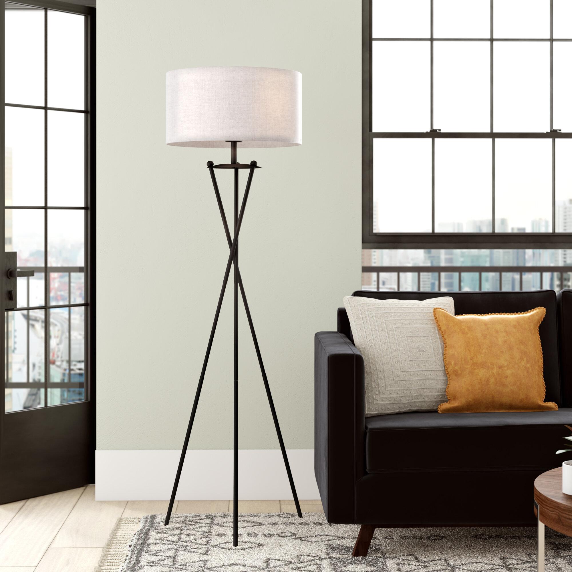 Corrigan Studio Janna 65 Tripod Floor Lamp Reviews Wayfair