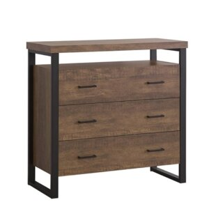 Leeson 3 Drawer Accent Cabinet by Union Rustic