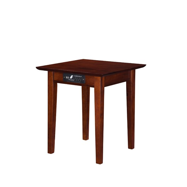 Charlton Home Ithaca End Table With Charging Station Reviews Wayfair Ca