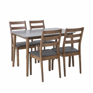 Armory Dining Set With 4 Chairs By George Oliver