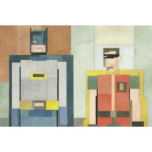 Batman and Robin Graphic Art on Wrapped Canvas