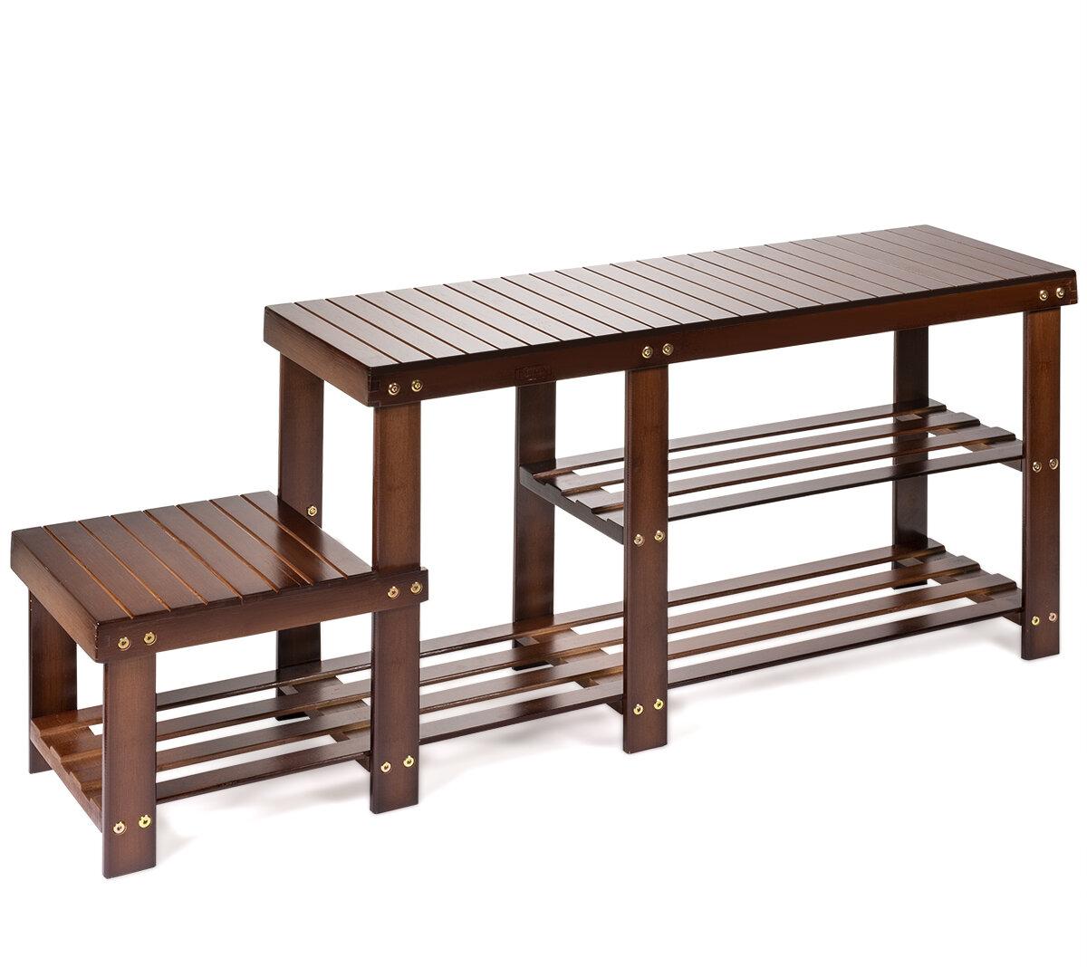 Picture of: Barton Bamboo Shoe Storage Bench Reviews Wayfair
