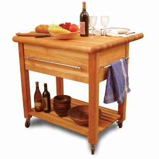 Grand Workcenter Solid Wood Kitchen Cart Catskill Craftsmen, Inc.