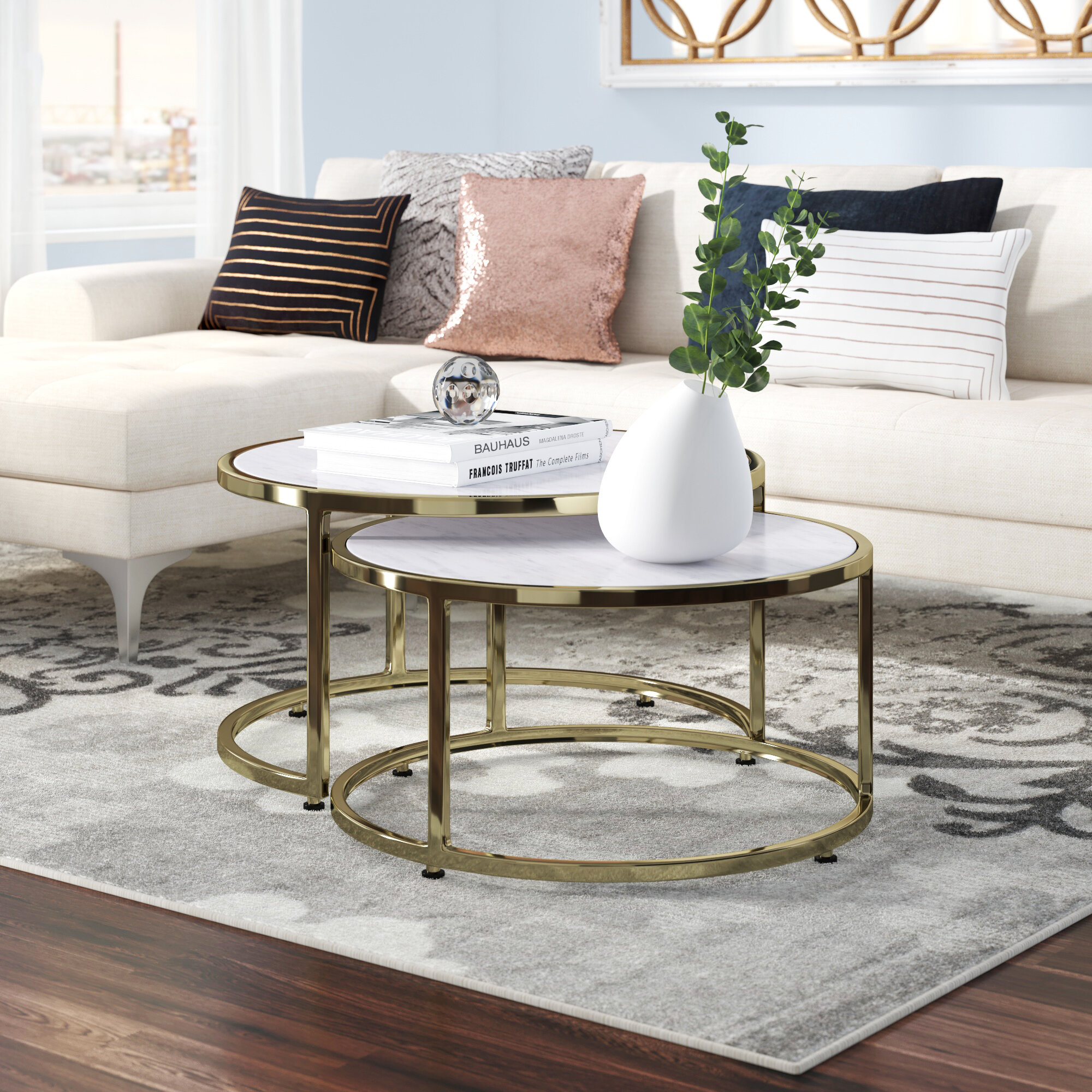 Everly Quinn Jelissa 2 Piece Coffee Table Set Reviews Wayfair