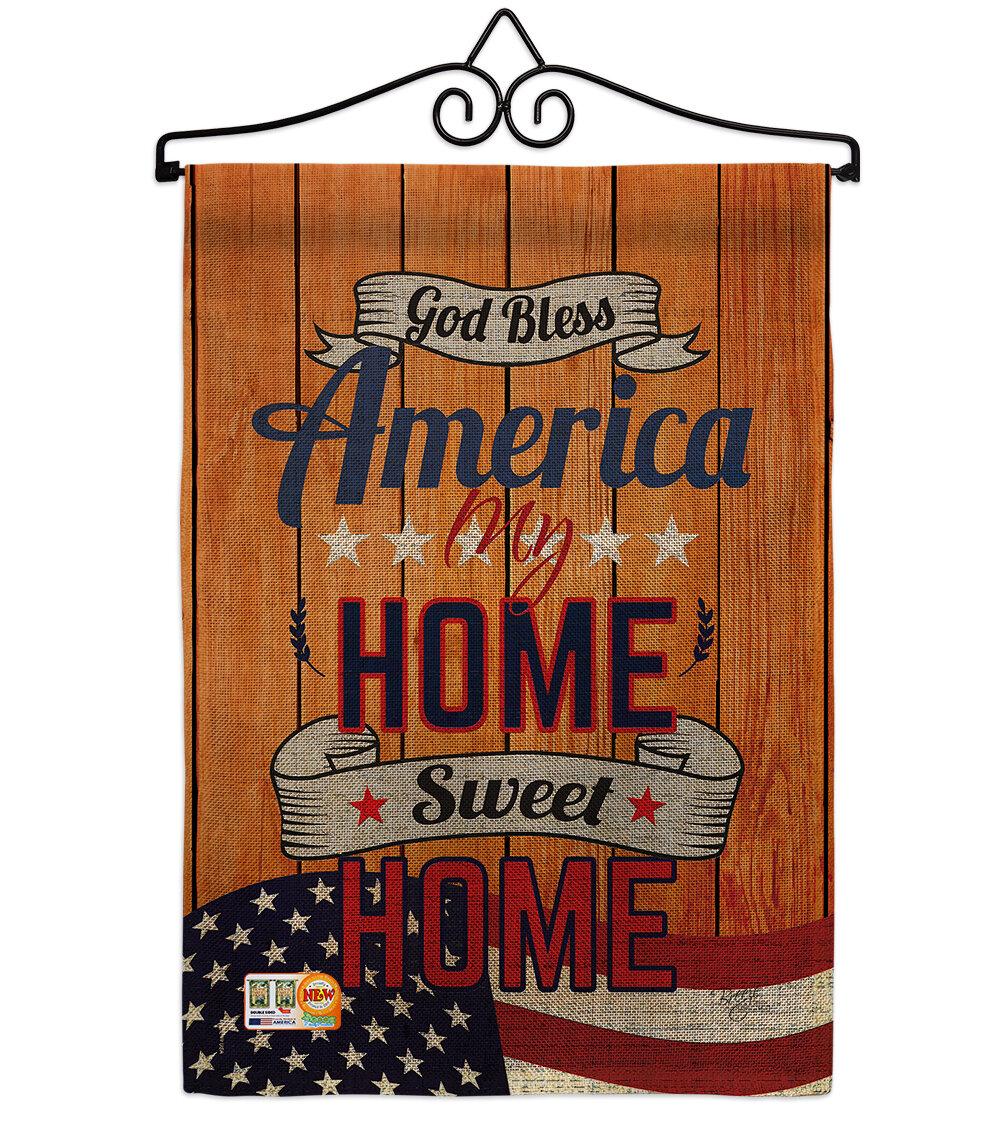 Breeze Decor America My Home American Patriotic 2 Sided Burlap 19 X 13 In Garden Flag Wayfair