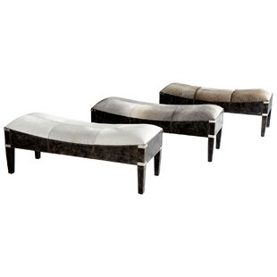 Fabulous Hyde On Cowhide Upholstered Bench by Cyan Design 2019 Sale