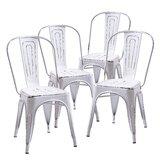 Myler Metal Slat Back Side Chair (Set of 4) by Breakwater Bay