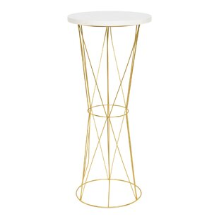 Gove Round Metal End Table by Wrought Studio