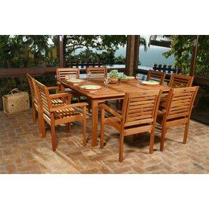 wood patio dining sets you'll love | wayfair