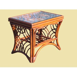 Rainey Wood Base End Table by Bayou Breeze