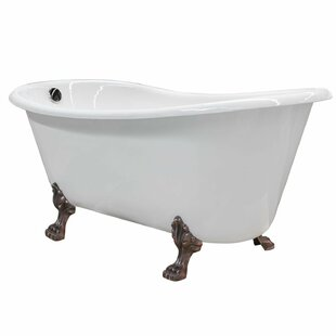 Save To Idea Board  Maykke Doris Cast Iron Clawfoot 67 X 31 Freestanding Soaking Bathtub Enameled Tubs Bathtubs You Ll Love Wayfair