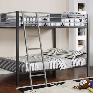 Harriet Bee Furguson Metal Twin Over Twin Bunk Bed